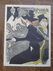 """Toulouse Lautrec Reproduction Poster """"Divan Japonais"""""""