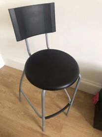 Bar stool with backrest x2
