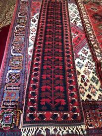 Beautiful handmade wool rug runner (narrow)