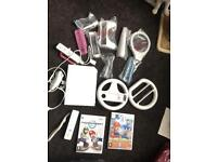 Reduced Nintendo wii with accessories