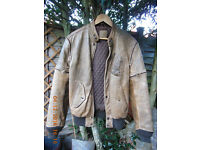 Leather jacket - Hein Gericke; brown, heavy duty, removable sleeves, many pockets, great condition.