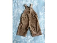 Mothercare Child's Cord Dungarees Age 3-6 months