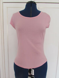 Next pink cotton top Size 10 Excellent condition