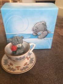 Me To You/Tatty Teddy Figurine/Ornament - 40902 - Fancy a Cuppa - Boxed