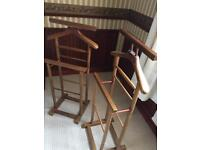 Pair of matching Solid Oak Double Clothes Valet Stand/Clothes rack