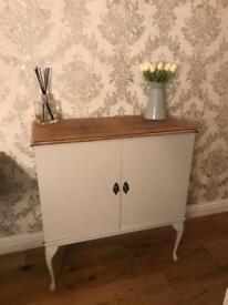 French grey painted French style cabinet - refurbished
