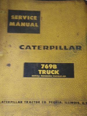 Caterpillar 769b Dump Truck Service Manual
