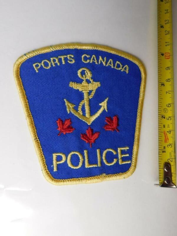 PORTS CANADA POLICE VINTAGE PATCH BADGE FEDERAL CANADA  COLLECTOR