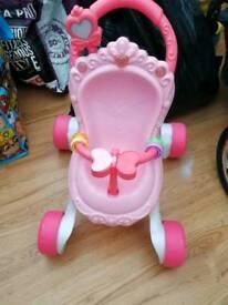 Doll's pram walker