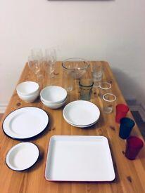 Wine glasses, glasses, cups, bowls, falcon plates, falcon dish and more