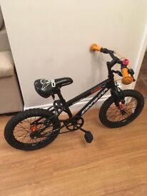 Boys 16 Inch Black Apollo Starfighter BMX Bike.