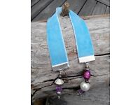 Bookmark handmade, vintage velvet ribbon