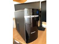 Complete Dual Monitor Gaming PC with Wireless Mouse & Keyboard & Extras