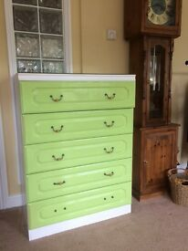 Chest Of Draws and bedside table to match