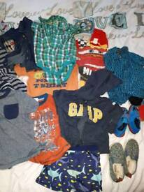 5 black bin bag of boys clothes age from 2-3 3-4 4-5