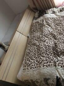 double bed oak colour