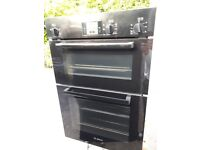 Bosch Double Electric Oven, HBM13B160B/01 Black in Excellent Condition
