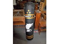 4ft Filled Very Heavy Punch Bag with Hanging Chain Kickbag Kick Boxing MMA