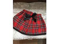 Baby girl tartan skirt 9-12months