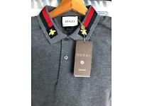Gucci polo grey polo brand new