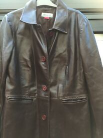 Monsoon ladies leather jacket size 12