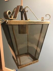Vintage brass hall/ porch lantern style ceiling fitting