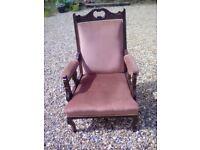 Edwardian style armchair