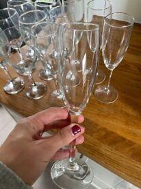 6 champagne glasses