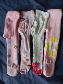Baby Girls tights 6-12 Mths