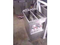 Commercial Valentine Electric Fryer Double Well Twin Basket Chips Fryer For Kebab Takeaway Cafe Pub