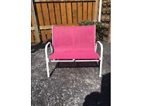 Child's Outdoor Pink Bench