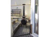 Huge 175cm x 50cm Woodburner Patio Heater / Chimnea Stove