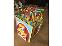 Baby and toddler wooden activity cube. Perfect condition