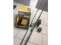Carp rod and reel setup