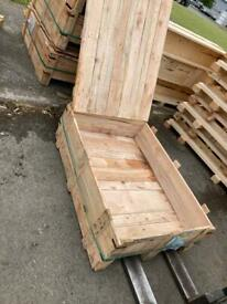 Hardwood packing cases. Make your own upcycled garden furniture flower boxes etc