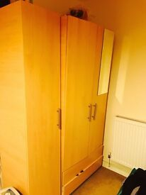 2 wardrobes, storages and drawers