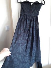 Original Laura Ashley dress, size 14 black textured cotton.