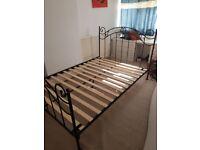 Metal EU double bed frame