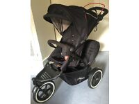 Phil & Teds Navigator 2.0 Double Buggy Black Excellent Condition