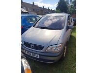 Vauxhall Zafira 1.6 16v px welcome 7 seater