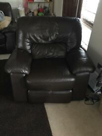Single electric armchair and 3 seater electric sofa