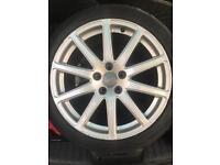 "Audi TT ttrs 18"" genuine alloys tyres x 4"