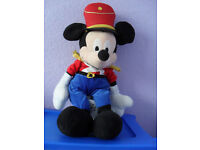 Disney Store Very large Soldier Mickey Mouse Soft Toy