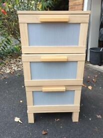 Set of ikea drawers