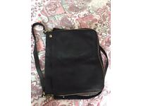 Black leather Fossil handbag