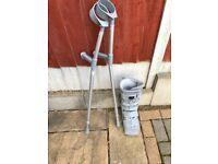 Crutches & walking boot