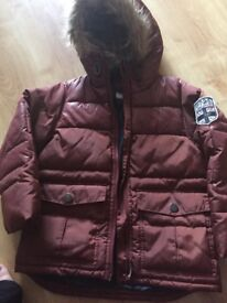 Age 6 boys burgundy coat by Next