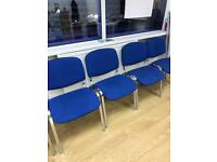 8No Blue Reception / Waiting Room Fabric Chair ( 8 Chairs)