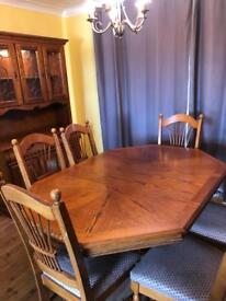 Dining room table 6chairs Dresser and small table