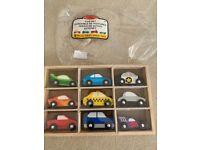 Melissa & Doug Wooden Car Set (Toy & Trains,Trucks & Vehicles) Brand New
